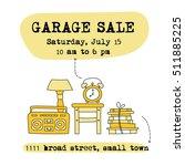garage sale  household used...   Shutterstock .eps vector #511885225
