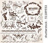 floral design elements | Shutterstock .eps vector #51189553