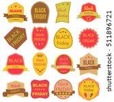 black friday sale vector badges ...   Shutterstock .eps vector #511896721