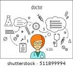 doctor vector character. board... | Shutterstock .eps vector #511899994