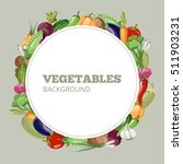 menu with vegetables. emblem... | Shutterstock . vector #511903231