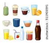 non alcoholic beverages set in... | Shutterstock . vector #511903591