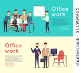 business characters. co working ... | Shutterstock .eps vector #511904425
