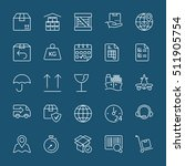 set of thin line icons isolated ... | Shutterstock .eps vector #511905754