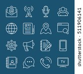 social media  nd communication... | Shutterstock .eps vector #511906141