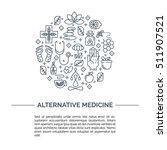 alternative medicine centre... | Shutterstock .eps vector #511907521