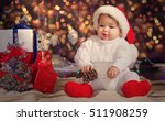 small surprised child in a... | Shutterstock . vector #511908259