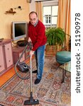 man cleans the apartment   with ... | Shutterstock . vector #51190978
