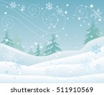 winter forest vector concept.... | Shutterstock .eps vector #511910569