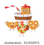 bon appetit. funny cartoon... | Shutterstock .eps vector #511910971