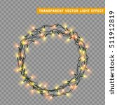garlands  christmas decorations ... | Shutterstock .eps vector #511912819