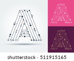 vector letter a. isolated and... | Shutterstock .eps vector #511915165