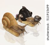 snail and upgraded snail  3d... | Shutterstock . vector #511915699