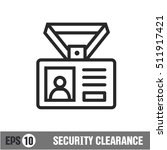 vector lines icon icon security ... | Shutterstock .eps vector #511917421