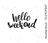 concept handwritten poster. ... | Shutterstock .eps vector #511919347