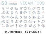 set vector line icons in flat... | Shutterstock .eps vector #511920157