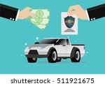 cartoon  businessman buying car ... | Shutterstock .eps vector #511921675