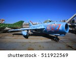 Small photo of NEW YORK;OCT13: fighter MiG-17 display in intrepid sea air space museum in New York on 13 October 2016. Interpid Sea AIr Space Museum showcases the aircraft carrier the former USS Intrepid