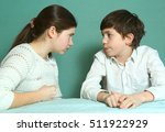european siblings brother and... | Shutterstock . vector #511922929