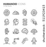 future humanoid and artificial... | Shutterstock .eps vector #511923415