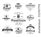set of bakery badges with bread ... | Shutterstock .eps vector #511937791