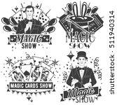 Vector Set Of Magic Show Labels ...
