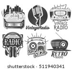 vector set of radio and music...