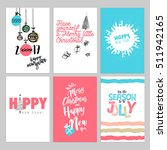 christmas and new year vintage... | Shutterstock .eps vector #511942165