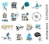 set of christmas and new year... | Shutterstock .eps vector #511942219