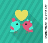valentine's day lover bird icon ...