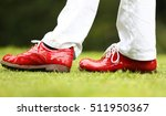 Jodie kidd's red golf shoes at...