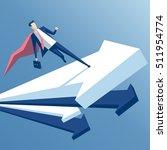 super businessman is running on ... | Shutterstock .eps vector #511954774