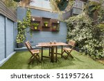 back yard with outdoor seating... | Shutterstock . vector #511957261