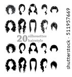 twenty silhouettes hairstyles | Shutterstock .eps vector #511957669