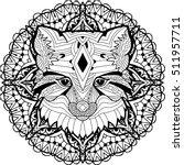 monochrome hand drawn ink...   Shutterstock .eps vector #511957711