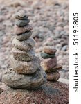 stone stack on a beach.... | Shutterstock . vector #51195805