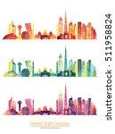 united arab emirates skyline...   Shutterstock .eps vector #511958824