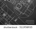 mechanical engineering drawing. ... | Shutterstock .eps vector #511958935
