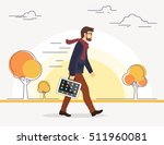 business man going to his work... | Shutterstock . vector #511960081