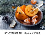 Fresh Persimmon Fruit And...