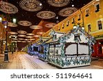 christmas market on the streets ... | Shutterstock . vector #511964641