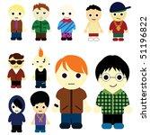 cartoon kids | Shutterstock .eps vector #51196822