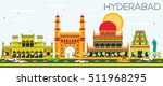 Abstract Hyderabad Skyline Wit...