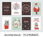 vector merry christmas greeting ... | Shutterstock .eps vector #511968601