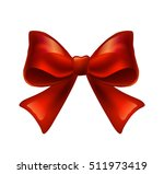 red ribbon with bow on a white... | Shutterstock .eps vector #511973419