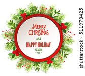 christmas wreath. | Shutterstock .eps vector #511973425