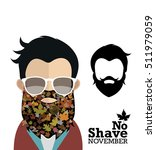 no shave november character... | Shutterstock .eps vector #511979059
