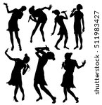 black singing people...   Shutterstock .eps vector #511983427