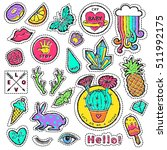 fashion patch badge elements in ... | Shutterstock .eps vector #511992175