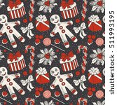 vintage seamless pattern with... | Shutterstock .eps vector #511993195